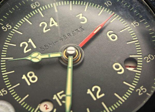 Russian 24 hour Aircraft Military Clock 129 ChS 55M