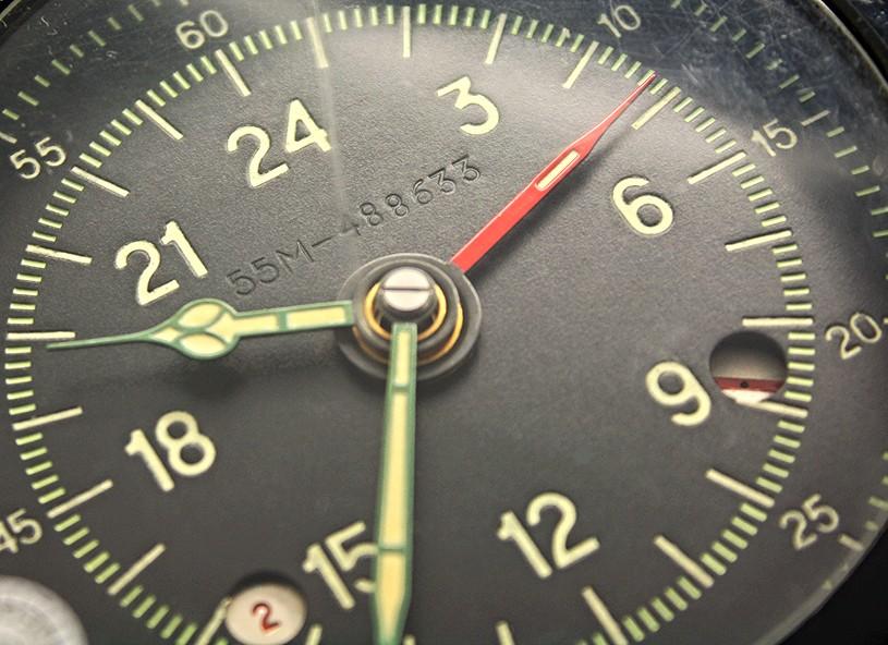 Soviet Military 24-Hours Clock Molnija 129-ChS 55M