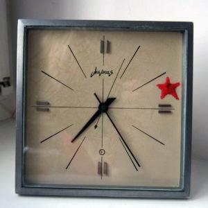 Russian Desk Clock Molnija Red Star USSR 1965