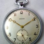 Soviet mechanical pocket watch Iskra USSR 1956
