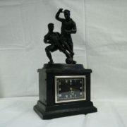 Russian Clock Molnija Football Kasli Sculpture USSR 1961