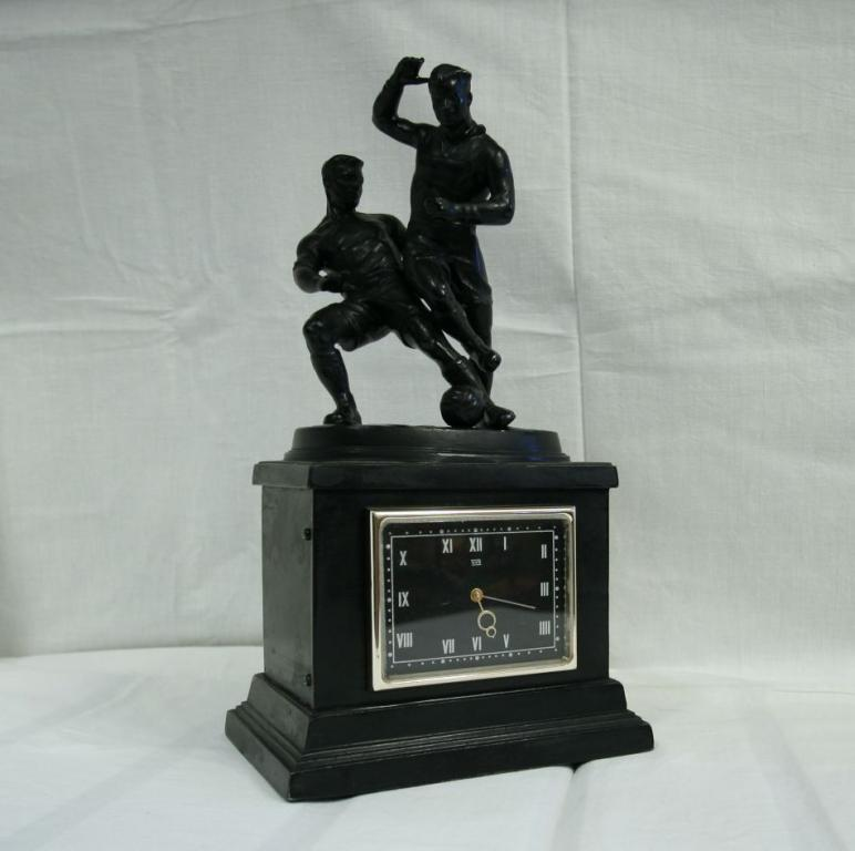 Russian Clock Molnija Football Kasli Sculpture USSR 1961