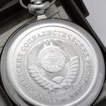 Russian mechanical pocket watch Molnija One Ruble