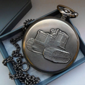 Soviet mechanical pocket watch Molnija Traktor USSR 1984