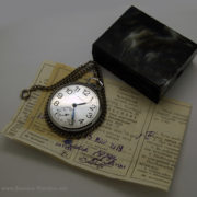 Russian Mechanical Pocket Watch Molnija USSR 1979