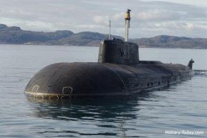 Russian submarine ANTEY (OSCAR II) Project 949A