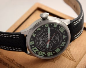 Russian Watch with 24 hour dial Polar Bear