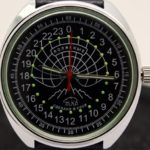 Russian 24 hour watch, Raketa Polar Bear black