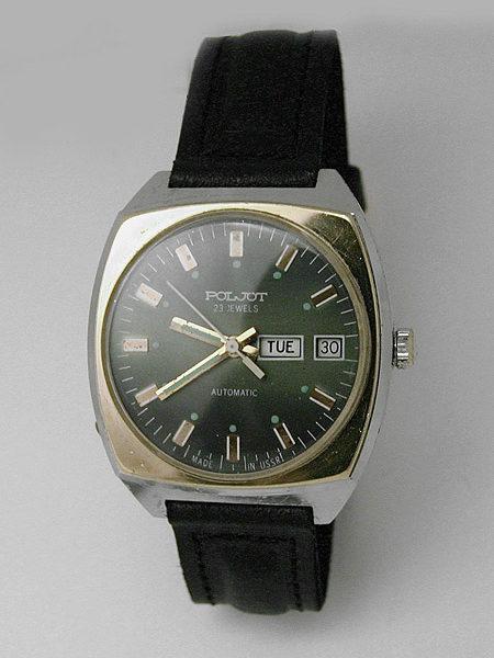 Soviet mechanical automatic watch Poljot USSR 1981