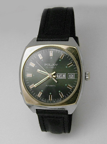 Soviet mechanical automatic watch Poljot USSR 1981