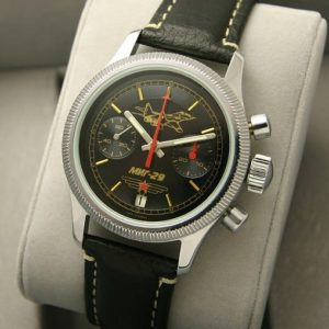 Russian mechanical chronograph watch POLJOT 3133 MiG-29