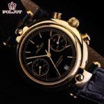 Russian Mechanical Chronograph Watch POLJOT 3133 Basilika Gold Plated