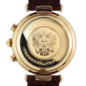 "Russian chronograph watch POLJOT 3133 ""PRESIDENT PUTIN"" Perl Gold plated"