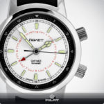 Russian Mechanical Alarm Watch POLJOT 2612.1 Signal White