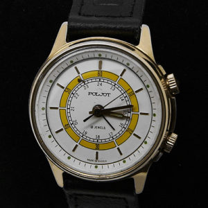 Russian mechanical POLJOT 2612 signal-type alarm watch 1993