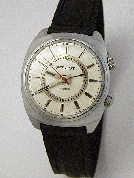 Russian mechanical POLJOT 2612 signal-type alarm watch USSR 1976