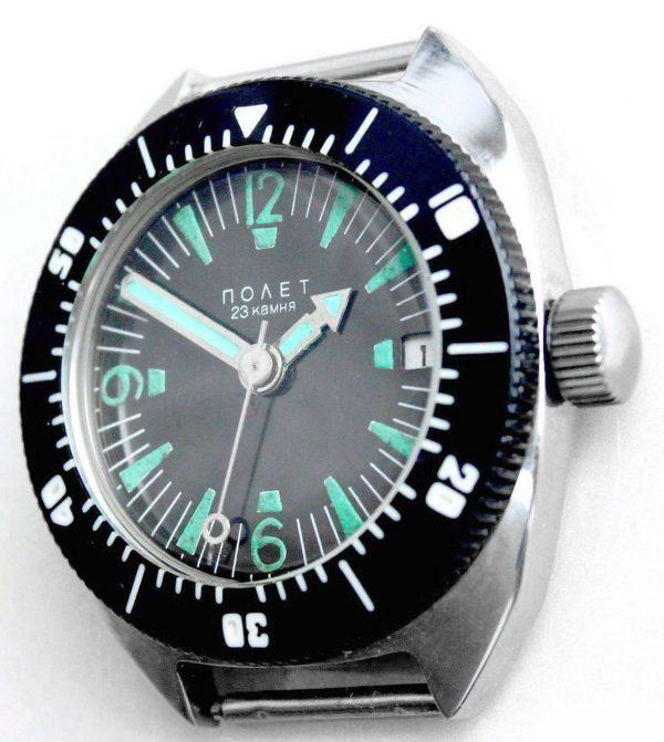 Russian Vintage Poljot AMPHIBIA Diver Automatic Watch 1980s