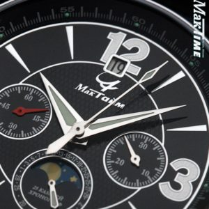 Russian Chronograph Watch Maktime 31679 Poljot Moonphase