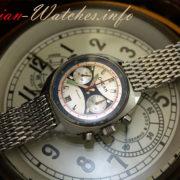 Russian Vintage Poljot OKEAH Military Navy Chronograph Watch + steel band