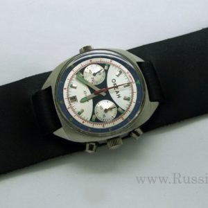 Russian Vintage Poljot OKEAH Military Navy Chronograph Watch + steel band