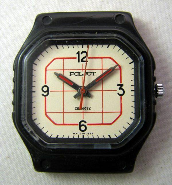 Soviet quartz watch Poljot 2456 USSR 1980s