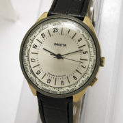 Russian mechanical 24-hour watch RAKETA World Time 1993