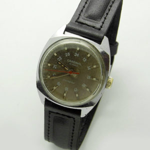 Soviet 24-Hours Mechanical Watch CARDINAL Raketa 2609