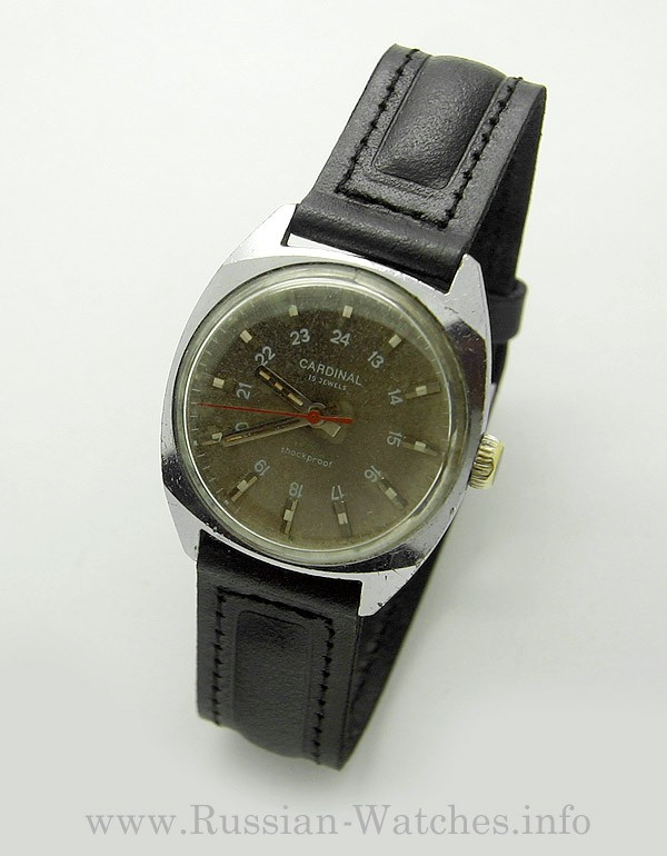 Soviet 24-Hours Mechanical Watch CARDINAL Raketa 2609