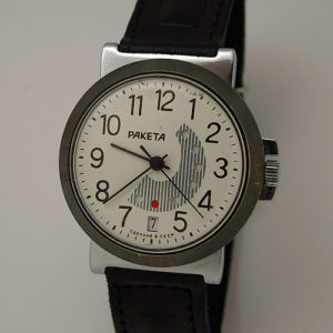 Soviet mechanical watch RAKETA 2628 Day/Date Calendar USSR 1984