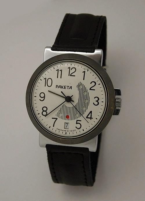 Soviet mechanical watch RAKETA 2628 Day/Date Calendar USSR 1984