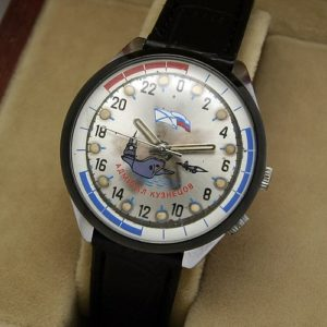 Russian mechanical 24-hour military navy watch RAKETA Admiral Kuznetsov USSR 1993