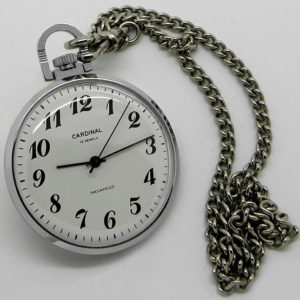 Russian mechanical pocket watch RAKETA Cardinal 1995