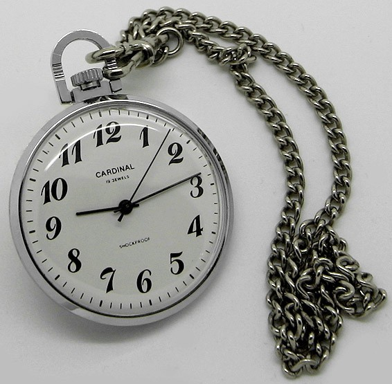 Russian mechanical pocket watch RAKETA Cardinal 1995