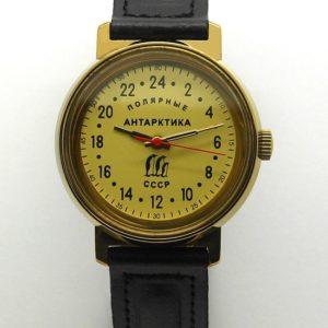 Russian 24-Hours Mechanical Watch Raketa ANTARCTIC Penguins (yellow)