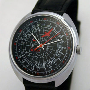 Raketa 24-Hour Mechanical Watch ARCTIC NORTH POLE-1 Black