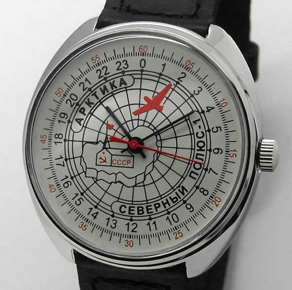 Raketa 24-hour mechanical watch ARCTIC NORTH POLE-1 White