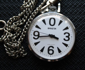 Russian Pocket Watch RAKETA Big Zero USSR 1980s