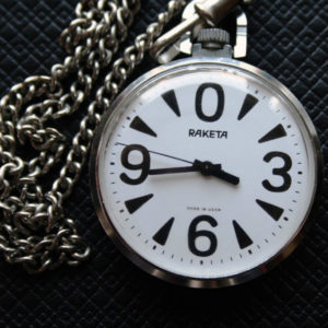 Russian Pocket Watch RAKETA Big Zero USSR 1980s