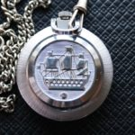 Raketa Big Zero, Russian pocket watch, USSR 1980s