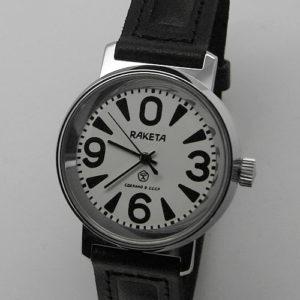 russian watch raketa big zero white