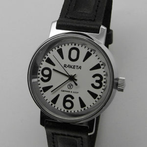 Russian mechanical watch RAKETA 0369 Big Zero White