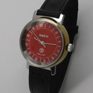 Raketa CLASSIC 24-hour mechanical watch (red3)