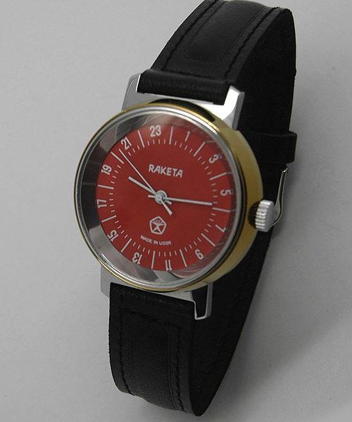 Raketa CLASSIC 24-hour mechanical watch (red3)