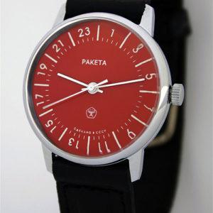 Raketa CLASSIC 24-hour mechanical watch Red