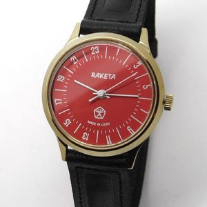 Raketa CLASSIC 24-hour mechanical watch (red2)