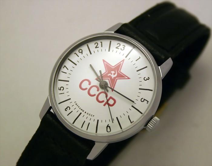 Raketa CLASSIC 24-hour mechanical watch Red Star
