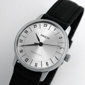 Raketa CLASSIC 24-hour mechanical watch Silver