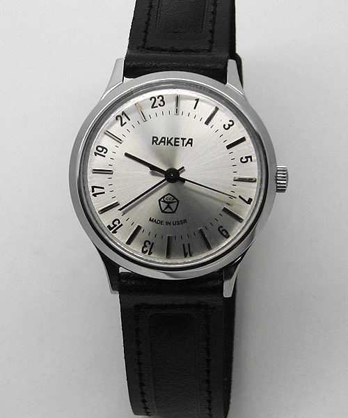 Raketa CLASSIC 24-hour mechanical watch (silver2)