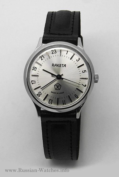 Raketa CLASSIC 24-hour mechanical watch (silver2)