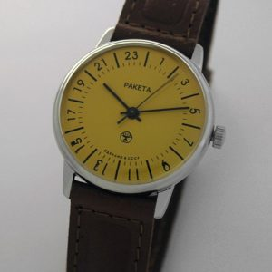 Raketa CLASSIC 24-hour mechanical watch Yellow